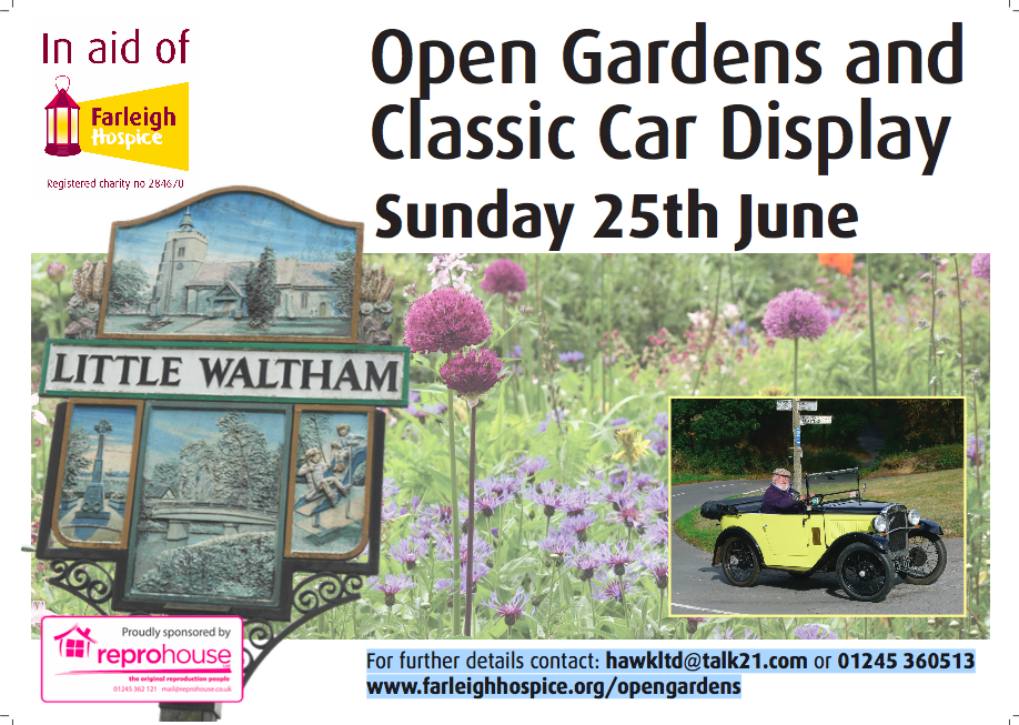 Little Waltham Open Gardens and Classic Car